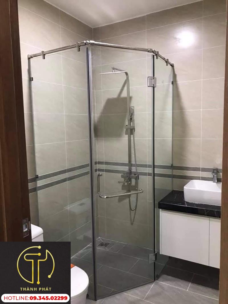 Vách kính nhà tắm phòng tắm đứng cường lực
